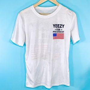 🥳 Novelty YEEZY for president T-Shirt. Size M.